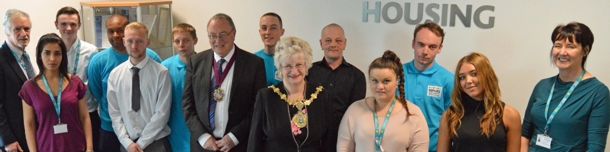 Mayor of Bury meets council tenants who have accessed free employment support