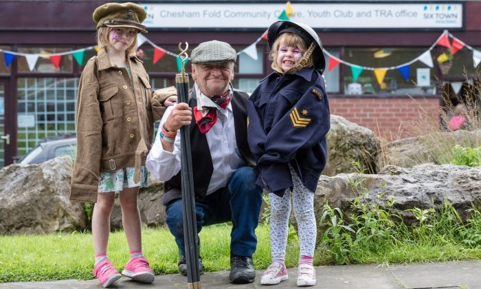 Vintage fun on Chesham Fold Estate