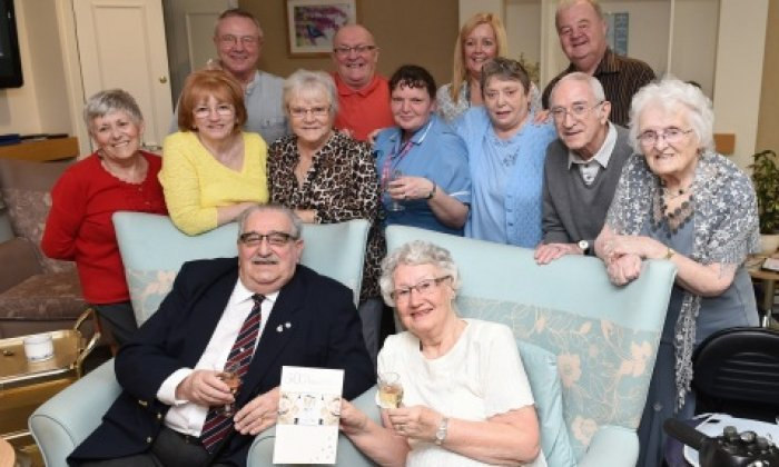 Red Bank Tenants George and Jean celebrate Diamond Wedding