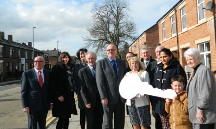 Nine new affordable houses open in Bury town centre