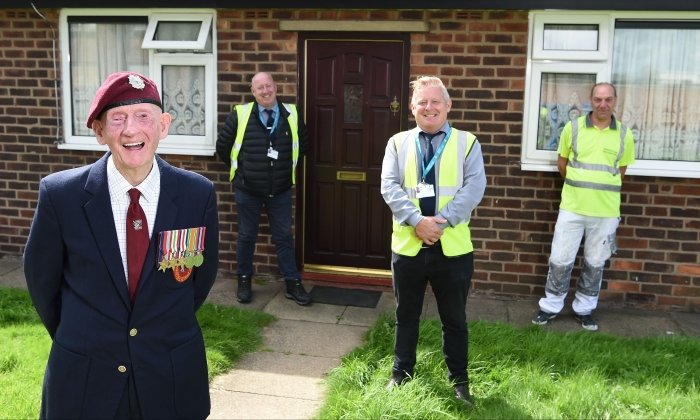 Radcliffe veteran receives surprise home makeover for his 100th birthday
