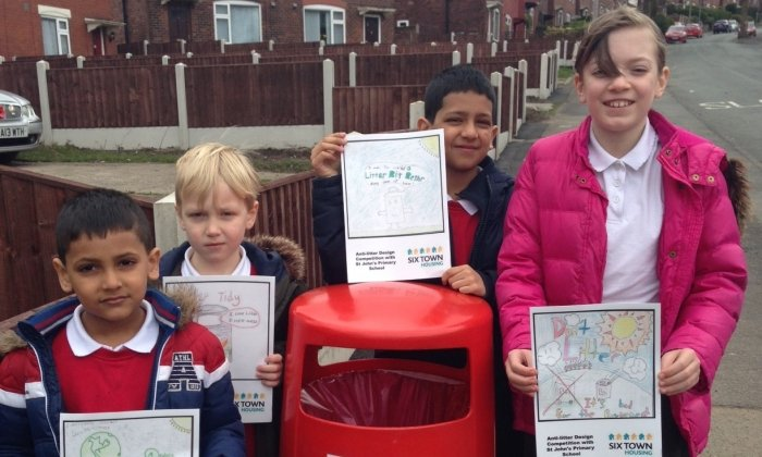 Radcliffe pupils see their anti-litter art displayed in their community