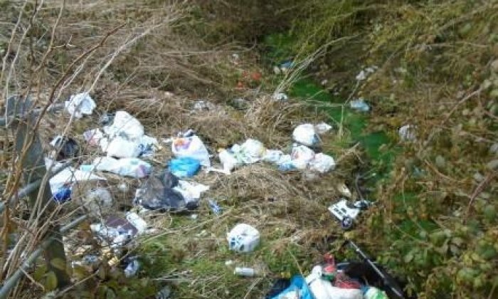 A man from Bury has been handed a £1,000 bill for fly-tipping