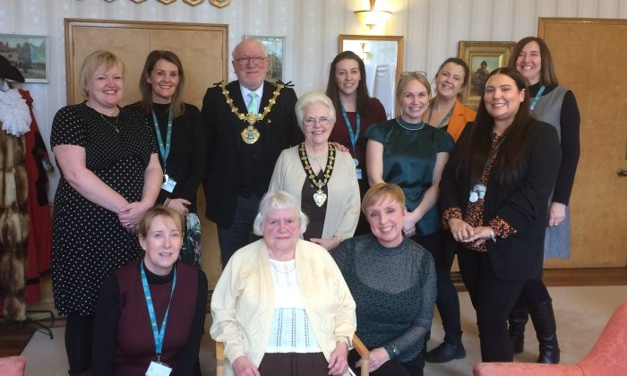 Mayor invites Bury's longest standing council tenant for afternoon tea