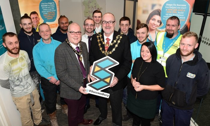 Mayor of Bury meets council housing residents who have accessed free employment support
