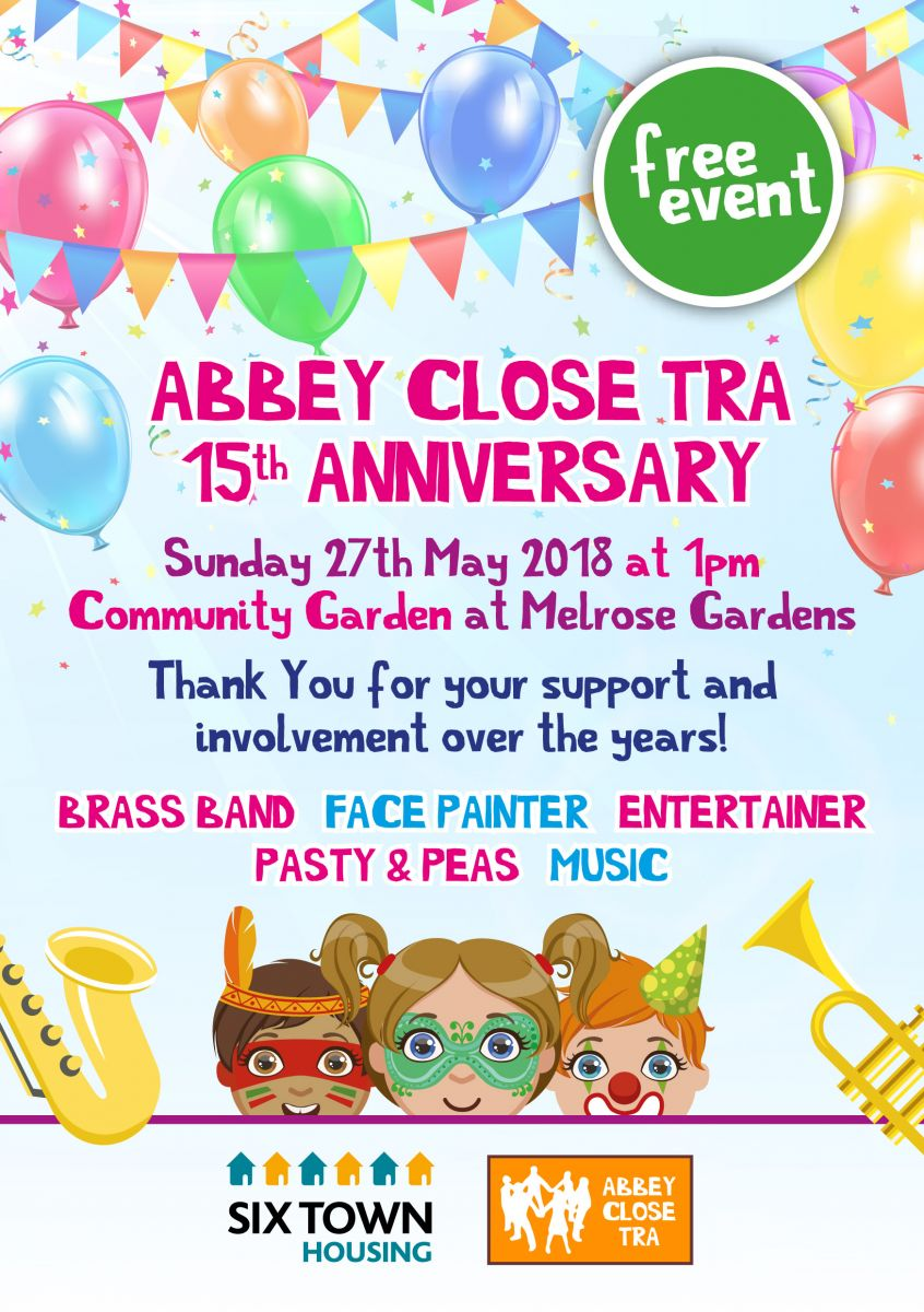 Abbey Close TRA 15th Anniversary | Six Town Housing