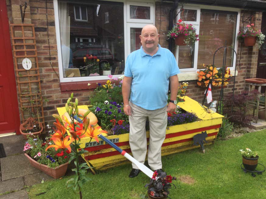 Runner up in the Six Town Housing Flower Power Gardening Competition for their Thinking Outside The Box category