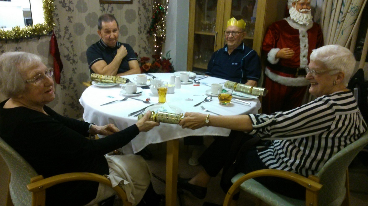 Free Christmas Dinner for staff at Clarks Hill in Prestwich, provided by Six Town Housing staff
