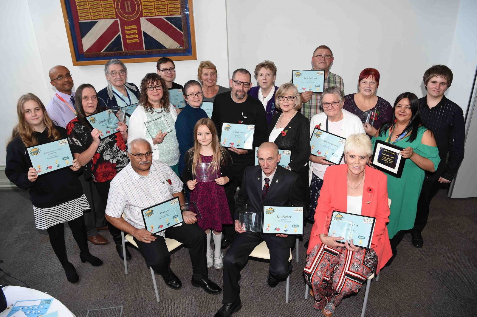 Last year's Community Heroes Award Winners in Bury