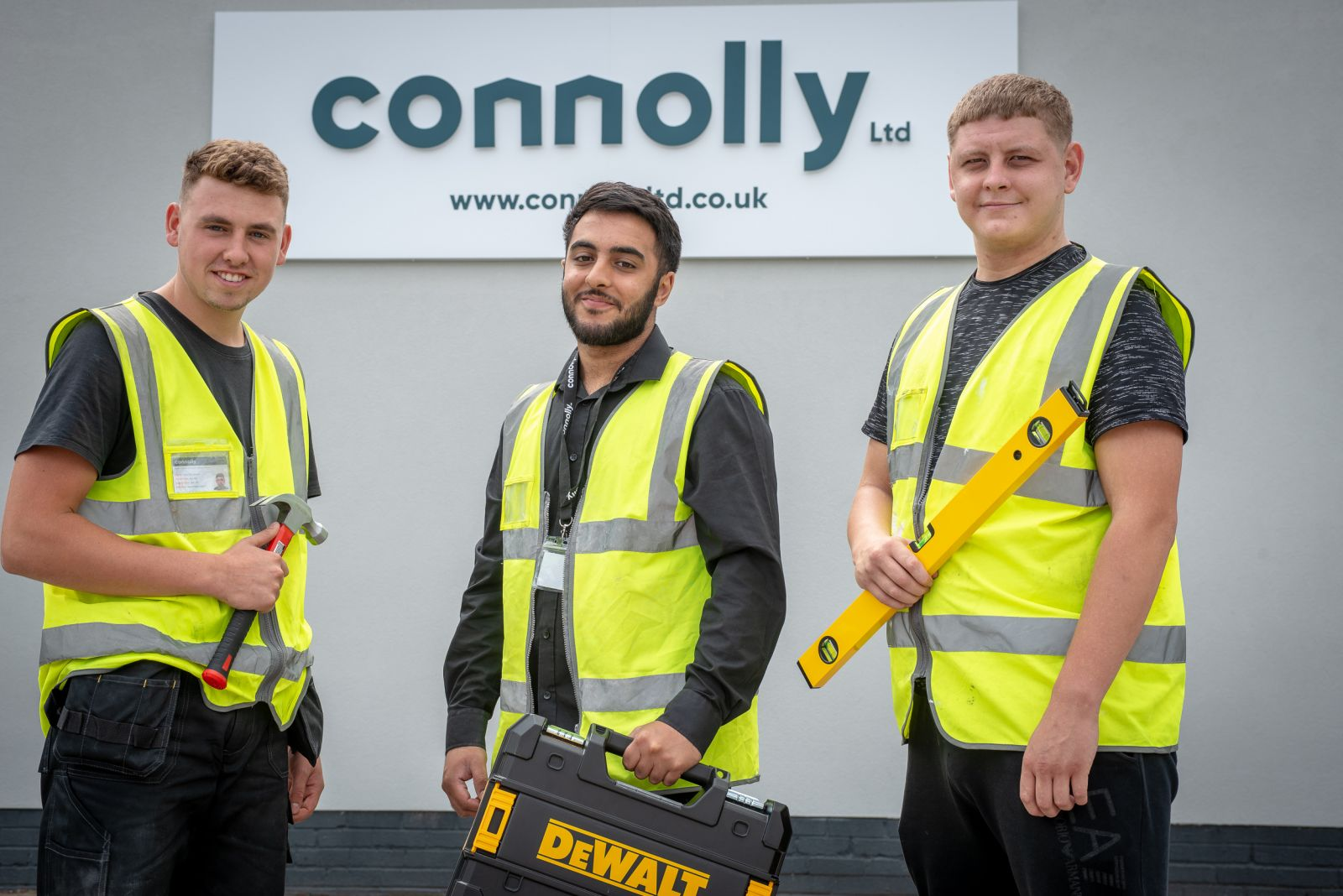 Apprentices Jack Thompson, Hassan Raza and Connor Halford (pictured left to right).