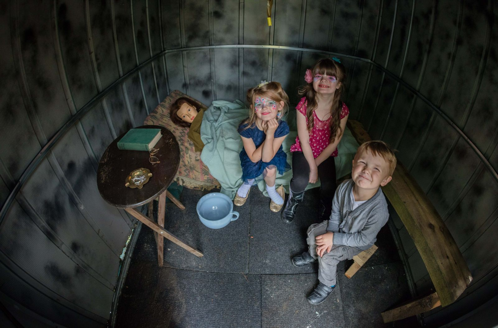 Historical bomb shelter mock up at Chesham Fold TRA's vintage event