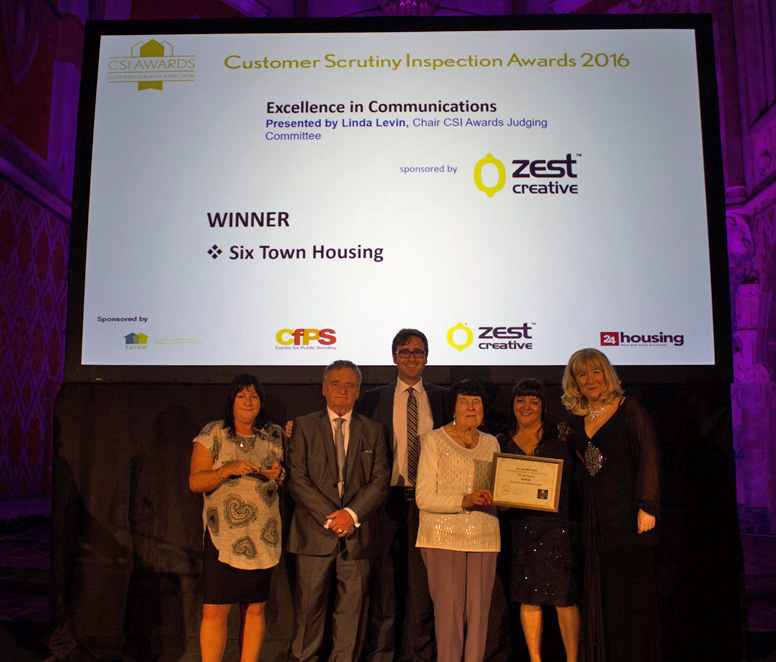 Six Town Housing  receives Tenant Communications Award