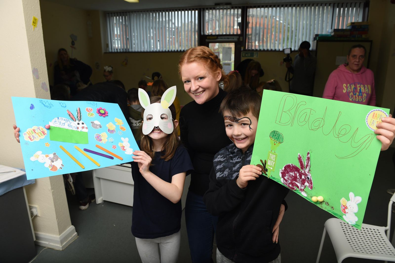 Youngsters join in the fun at Chesham Fold TRA Easter day.
