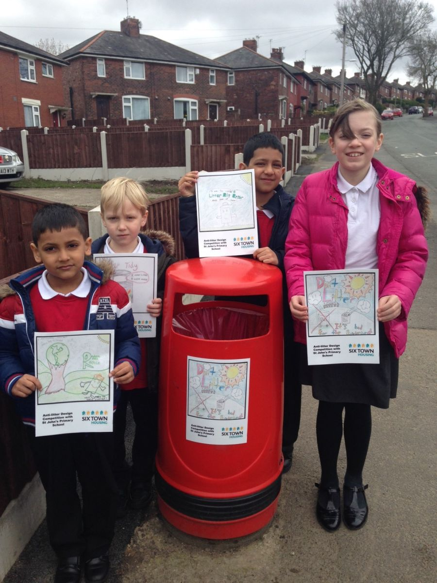 The young designers with their anti-litter art