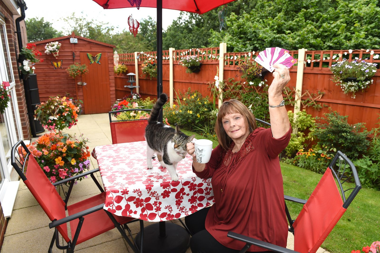 Marilyn Lees won Best Individual Garden in Six Town Housing's Flower Power Gardening Competition