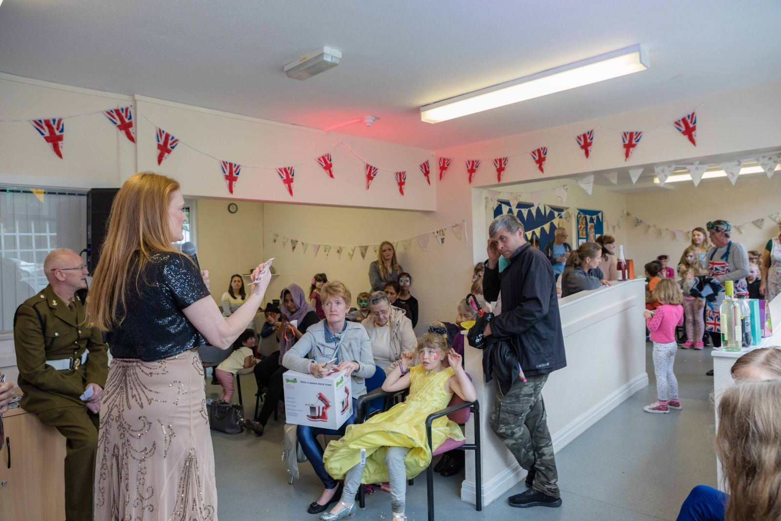 Wartime singalong at Chesham Fold TRA vintage party in Bury
