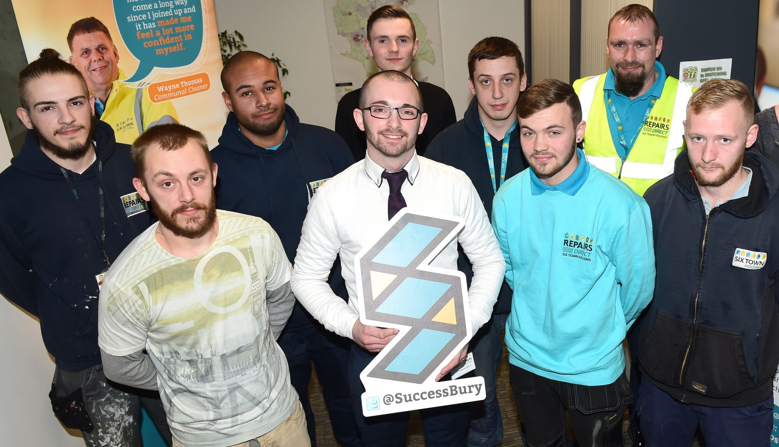 Several tenants who have accessed Steps To Success apprenticeships or work placements