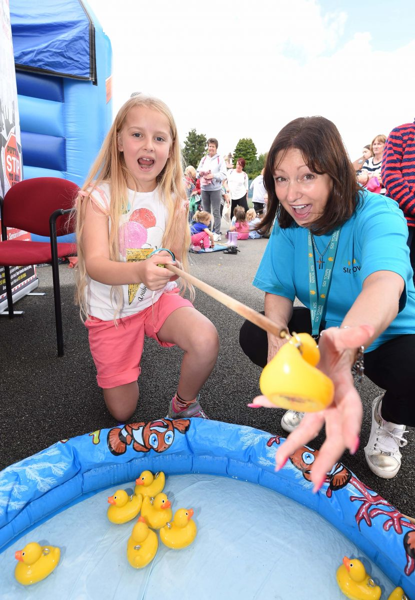 Hook a duck at Six Town Housing's Summer Roadshow