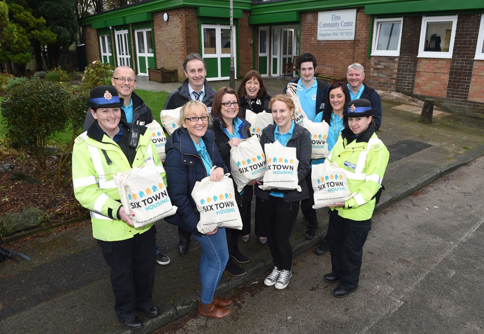 Six Town Housing staff and Community Support Officers are delivering the Winter Warmer packs