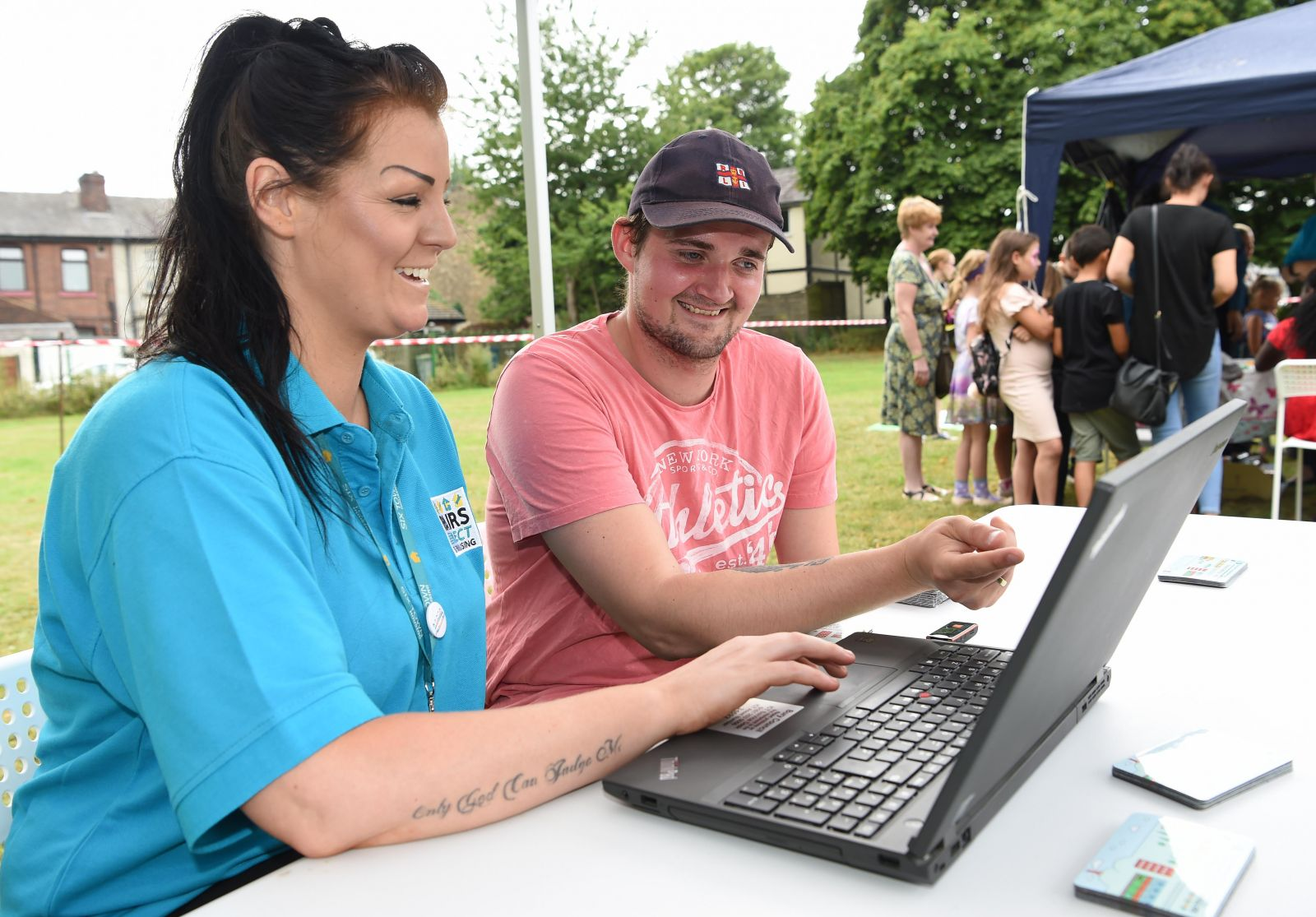Digital training at Six Town Housing's Summer Roadshow