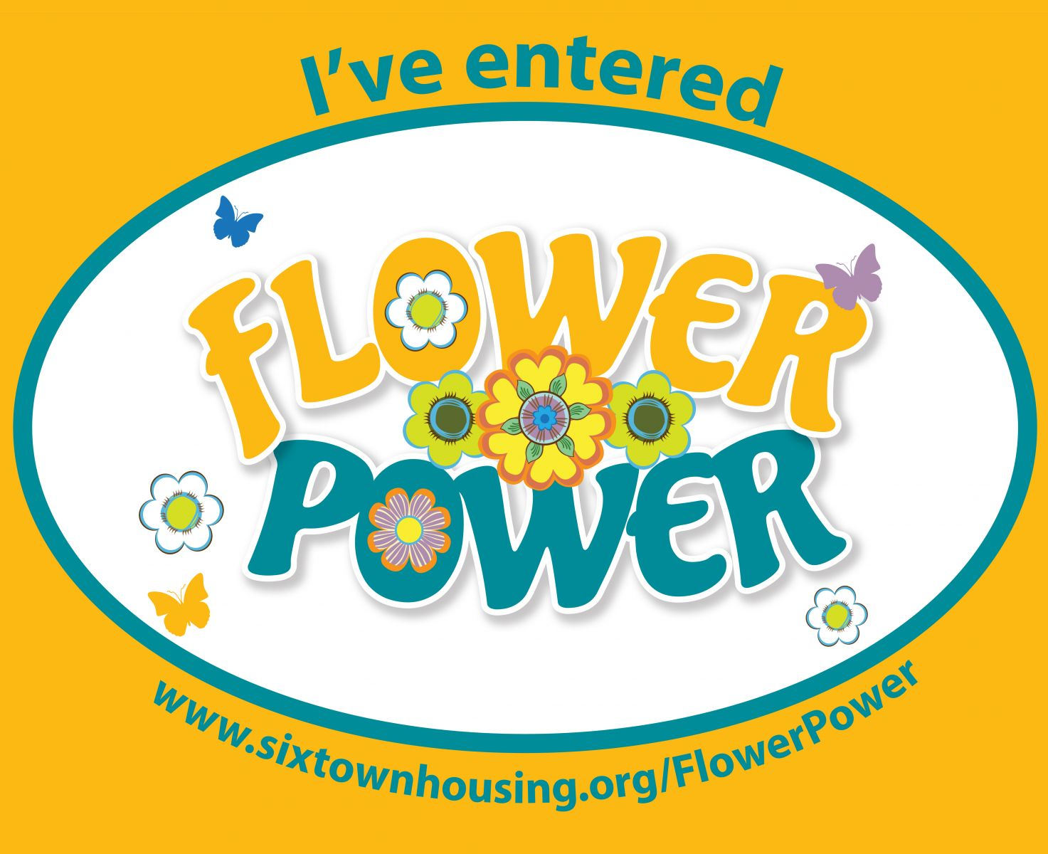 I've entered Six Town Housing's Flower Power gardening competition